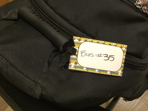 tie in place backpack tags