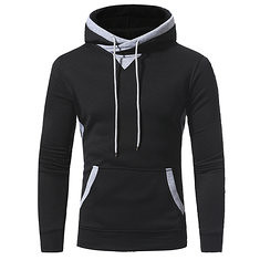 Youth Fashion Mens Sweater Mens Casual Pullover Hooded Sweater Coat (1201773) #Banggood