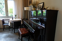 a corner of the small restaurant (bluefam) Tags: restaurant bistro piano music