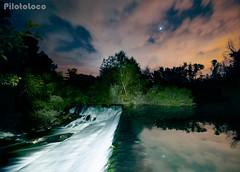 Presa-desde-arriba_W (Piloto_Loco) Tags: nikon nikond90 d90 segovia españa panoramica panorama presa dam embalse reservoir fall cascada noche night lightpainting fotografia photo