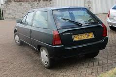 1997 Citroen AX Spree (occama) Tags: p223dfj 1997 citroen ax spree old car cornwall uk 954cc 954 green french