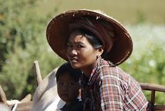 (cherco) Tags: portrait woman look boy rural myanmar composition composicion canon chica green cart retrato colour color canoneos5diii beauty