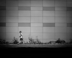 The boy (erikvdlinden) Tags: summer teenager alone afternoon streetphotography pedestrianstreet building walking boy blackwhite blackandwhite dronten flevoland nederland nl