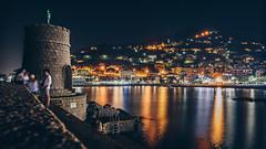 Seeking Sea Breeze (FButzi) Tags: genova genoa liguria italy italia recco molo pier sea breeze lights reflection