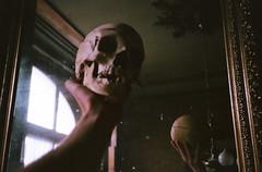 (90sFlav) Tags: skull tumblr sad lofi grain film 35mm kodak rollei bones dark indie dream hell