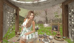 Emmy's Tea Party (Peaches Whimsy) Tags: artisanfantasy avatar artisan stealthic mooh pose virtual girl elle secondlife sl