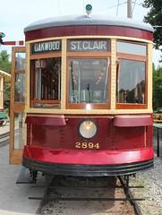 St. Clair - 2894 (jmaxtours) Tags: haltoncountyrailwaymuseum railwaymuseum streetcars museum haltoncountyradialrailway campbellville campbellvilleontario ontario torontotransitcommission 2894 ttc stclair oakwood