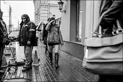 4_DSC4580 (dmitryzhkov) Tags: urban city everyday public place outdoor life human social stranger documentary photojournalism candid street dmitryryzhkov moscow russia streetphotography people man mankind humanity bw blackandwhite monochrome rain autumn badweather