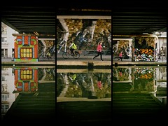 Canal de l'Ourcq (Calinore) Tags: france paris city ville street rue reflet reflection xixeme canaldelourcq