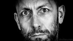 Self (#Weybridge Photographer) Tags: adobe lightroom canon eos dslr slr 5d mk ii mkii self selfie portrait monochrome low key beard close up studio