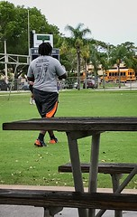 Football 65 (LarryJay99 ) Tags: park lakelytlepark westpalmbeachfl outlside iphone7 blackman sports player man men guy guys dude male studly manly dudes handsome dreadlocks heavydude
