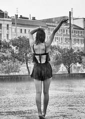 Warm summer rain (Mikhail Korolkov (OFF)) Tags: street streetphotography rain raindrops youth young lady dance