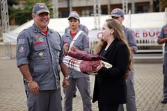 Doação dos Bombeiros (Prefeitura de Franco) Tags: esb doou para campanha do agasalho franco recebe doação dos bombeiros francodarochacentro