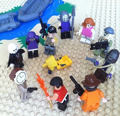 The Masquerade (Gallisuchus (Clayface)) Tags: custom lego dc supervillains story suicide squad task force x minifigures rick flag thinker unknown soldier plastique rustam swagman sportsmaster torque magpie clock king javelin clayface basil karlo annie