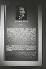 Thomas Andrews (goodfella2459) Tags: nikon f4 af nikkor 50mm f14d lens ilford delta 3200 35mm blackandwhite film thomas andrews titanic history byron kennedy hall exhibition centre sydney bwfp