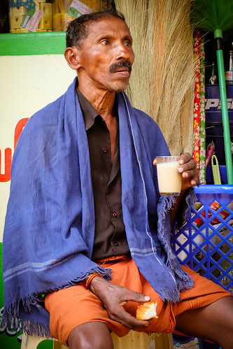 Chai time. Tamil Nadu, India, 2018