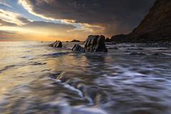 Passing Storm (Mark Leader) Tags: storm seascape drama dark clouds sky threatening rockscliffs duckpool bay northdevon cornwall