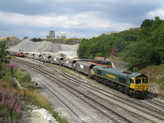66619 on Bletchley R.M.C. - Peak Forest Cemex Sdgs at Dove Holes 27/08/2018 (37686) Tags: 66619 bletchley rmc peak forest cemex sdgs dove holes 27082018