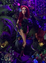 Poison Ivy (MaxxieJames) Tags: poison ivy pamela isley dc dcu batman gotham city sirens plants red barbie mattel made move doll collector diorama wwe superstar eva marie