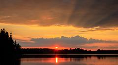 decent sunset (Antti Tassberg) Tags: pilvi suomi espoo hdr landscape pitkäjärvi auringonlasku järvi aurinko cloud finland lake scandinavia sun sundown sunset uusimaa fi crepuscular rays sunbeam