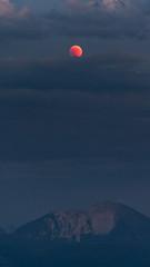 Lunar Eclipse above the Alps (redfurwolf) Tags: lunareclipse moon mountain alps eclipse clouds herzogstand bavaria germany redfurwolf sonyalpha a7riii a7rm3 fullmoon nature