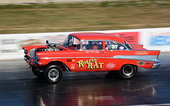 Chevy_1857 (Fast an' Bulbous) Tags: drag race classic car oldtimer santa pod dragstalgia motorsport nikon vehicle automobile racecar