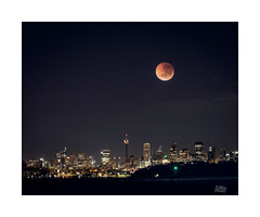 Eclipse (Mike Hankey.) Tags: clear lighthouse sunrise published eclipes hornby landscape focus multipleexposures bloodmoon campcove southhead