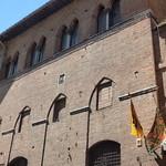 Hospital of Santa Maria della Scala - Piazza del Duomo, Siena -  flags - The Noble Eagle District (Aquila) and The Forest District (Selva) thumbnail