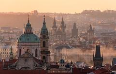 _DSC1590 - Golden morning in Prague (AlexDROP) Tags: 2018 czechia czechrepublic europe prague praha art travel architecture color city skyline dawn sunrise landscape cityscape smoke mist urban nikond750 afsnikkor28300mmf3556gedvr best iconic famous mustsee picturesque postcard