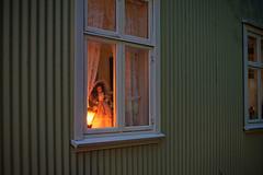 Reykjavik window (warmith) Tags: warmith sonyalpha7 alpha7 a7 pentaxsmcfa28mmf28 island islande reykjavik nightshoot iceland