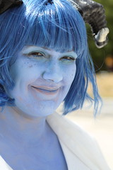 Jester - Close Up (NekoJoe) Tags: amecon amecon2018 ame ame2018 animeconvention cleric closeup convention cosplay cosplayer coventry criticalrole england gb gbr geo:lat=5237894926 geo:lon=156170011 geotagged jester jesterlavorre midlands tiefling uk unitedkingdom warwickartscentre