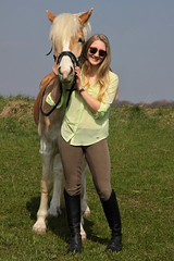 Camille 28 (The Booted Cat) Tags: sexy teen model girl blonde long hair riding ridingboots boots horse equestrienne