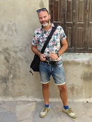him on naxos (gerben more) Tags: naxos man people portrait portret handsomeman photographer him greece beard