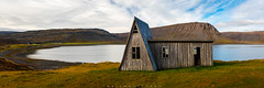 Fossfjörður,Westfjords, Iceland, panorama (Fabien Guittard) Tags: fjord voyage paysage nature cabane architecture falaise automne panorama mer cliff fall hut landscape sea travel vestfirðir islande is