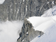 Mont Blanc Area (Jonathon Bennett Photos) Tags: montblanc chamonix climbing rock granite alps danger snow cloud mist