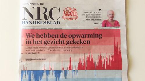 NRC Handelsblad 8 augustus 2018 Klimaatverandering