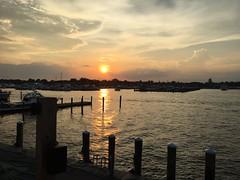 Bay Shore, NY (pepsigirl917) Tags: water sun reflection dock dinner restaurant ny longisland bayshore sunset