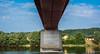 2018 - Hungary - Mohács - Batina-Bezdan Bridge (Ted's photos - For Me & You) Tags: 2018 cropped mohács nikon nikond750 nikonfx tedmcgrath tedsphotos vignetting bridge river danuberiver danube reflection waterreflection blue bluesky