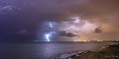 Stormy evening over French Basque coast (edouardfourcade) Tags: basque night color storm stormy thunder seascape landscape dramatic