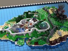 Isla Nublar (L-DI-EGO) Tags: lego jurassic park microscale movie toy island architecture dinosaur film world fallen kingdom visitor center