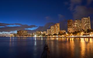 Sunset in Waikiki, Hawaii