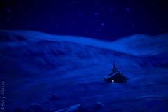 Far North (yuriye) Tags: art painting digitalpainting photorealism adobephotoshop wacomtablet khibini большой вудъявр lapland murmansk artwork paint живопись цифровая conceptart concept hyperrealism digital background заполярье monchetundra mountain blue deep night polar arctic circle star church russia extreem snow sky