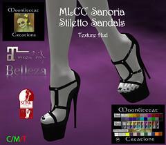 MLCC Sanoria Stiletto Sandals Ad Pic (moonlitecat) Tags: mlcc fantasy faire sanoria mini dress wings mesh bento slink belleza maitreya tonic tmp