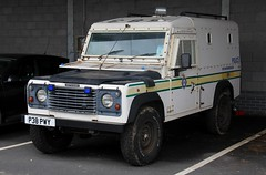 West Yorkshire Police Land Rover Defender 110 Armored Vehicle (PFB-999) Tags: west yorkshire police wyp land rover defender 110 armored vehicle transporter car unit grilles strobes p38pwy