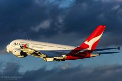 Qantas 1 Away (Tom Marschall) Tags: airbus qantas a380 380 388 a380841 qf qf1 yssy syd sydney lhr lon egll sin singapore london uk england aviation air aeroplane cloud winter sky sun sunset blue travel explore