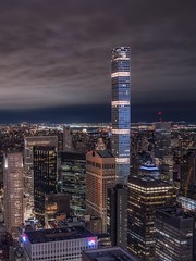 the other side (karinavera) Tags: city longexposure night photography cityscape urban ilcea7m2 sunset architecture aerial view newyork manhattan