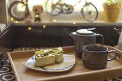 Tea time (gio_naiads) Tags: matcha cheesecake green tea avocado food dessert