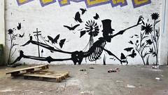 A new #skeleton factory ? #art by #KlaasVanderLinden. . #Gent #Belgium #graffiti #urbanart #graffitiart #streetartbelgium #graffitibelgium #visitgent #urbanart_daily #graffitiart_daily #streetarteverywhere #streetart_daily #ilovestreetart #igersstreetart (Ferdinand 'Ferre' Feys) Tags: instagram gent ghent gand belgium belgique belgië streetart artdelarue graffitiart graffiti graff urbanart urbanarte arteurbano ferdinandfeys klaasvanderlinden
