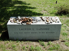 The final resting place of Laurier LaPierre in the Maclaren Cemetery in Wakefield, Quebec (Ullysses) Tags: laurierlapierre canadiansenator broadcaster journalist professor author liberalpartyofcanada wakefield quebec canada tombstone grave historian officeroftheorderofcanada orderofcanada laurierllapierre summer été maclarencemetery egale