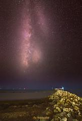 Vía Láctea desde Sancti Petri (PictureJem) Tags: víalácteanoche playa agua oceano cielo estrellas noche nocturna